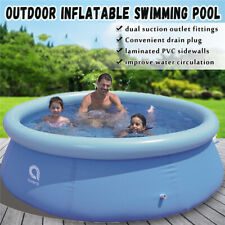 """10' x 30"""" Quick Set Inflatable Above Ground Swimming Pool Family Kid Play Water"""