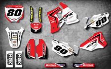 Custom Graphics, Full Kit For HONDA CR 80 1996 - 2002 REBOUND STYLE stickers