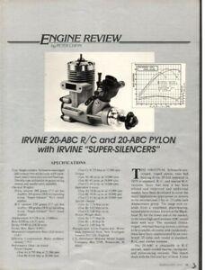 Irvine 20 model 3.5cc? RC marine engine (never run)