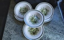 More details for vintage royal worcester palissy orchid set 6 small cereal bowls 6.25 inch