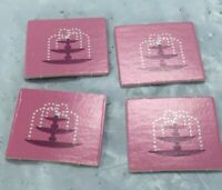 Mall Madness Replacement Mall Fountains 2004 Set of 4 Parts Vintage Board Game