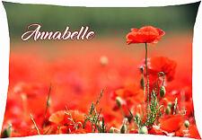 coussin rectangulaire fleur coquelicot printemps personnalisable 40x28cm réf 612
