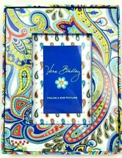"Vera Bradley Marina Paisley 4"" x 6"" 4x6 Photo Picture Frame New in Box Retired"