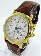 Maurice Lacroix Croneo Day Date Chronograph Men's Watch Leather ref. 39701