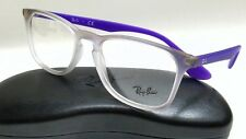 New Authentic RAY BAN RX7074 5600 Violet Gradient Rubber White 50mm Eyeglasses