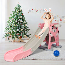 Folding Extra Long Kids Play Climber Slide Playground Toddler Toy Indoor Outdoor
