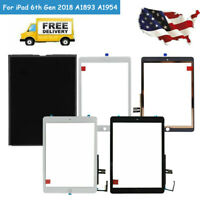 For iPad 6 6th Gen 2018 LCD Digitizer Glass Touch Screen Replacement A1893 A1954