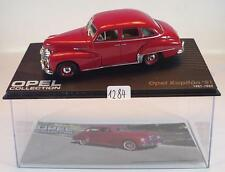 Opel Collection 1/43 Opel Kapitän 51 rot 1951 - 1953 in Plexi Box #1284