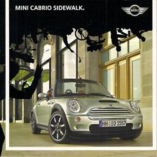 Mini Cabriolet trottoir LIMITED EDITION 2007 Marché Allemand brochure One Cooper S