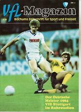 BL 84/85 VfL Bochum - VfB Stuttgart