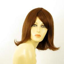 perruque femme 100% cheveux naturel châtain clair cuivré ref CORALIE  30