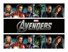 Avengers edible cake strips cake wraps decorations frosting strips