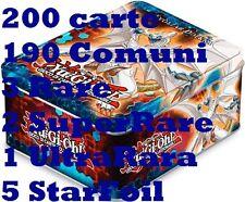 Yu-Gi-Oh! Tin Zexal da Collezione con 200 carte 190 comuni 2 Super-Rara 3 Rare e
