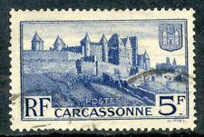 TIMBRE FRANCE OBLITERE 392 RAMPARTS DE LA CITE DE CARCASSONNE