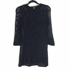 Free People XS Rosalind Swit Black Crochet Dress