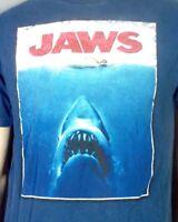 vtg Late 90s Universal Studios Florida Jaws Movie The Ride T-Shirt Rap Tee sz M