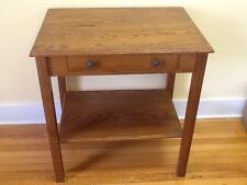 Vintage Greene Mfg. Co./Arts & Crafts Table /2 Pull Drawer w/Orig. paper sticker