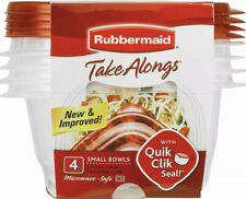 New listing Rubbermaid TakeAlongs 3.2 Cup Small Bowls Food Storage Container, (4 Pack) New