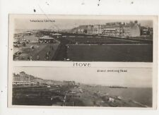 Hove Western Lawns / Front Looking East Multiview RP Postcard 843a