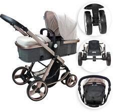ib style®ELEGANCE 3 in 1 Pushchair Stroller Buggy Pram incl. Car Seat Carrycot