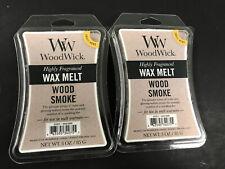 New WOODWICK Wax Melts Wood Smoke Scented, 3 Oz Each, Set Of 2