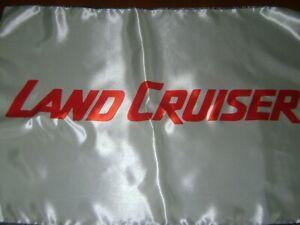 "Toyota 20x30"" Flag Banner Garage Vintage Deco Land Cruiser FJ SUV Classic White"