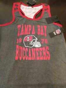 NFL TAMPA BAY BUCCANEERS Racerback Tank Top Shirt (Women's Size L) ICER BRANDS