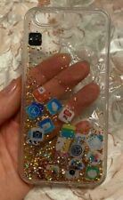 New I Phone Apple 6 Silicone Clear  Cover w/moving pictures trim
