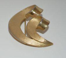 TRIFARI Gold Tone Metal Curled Ribbon Shaped Pin Brooch