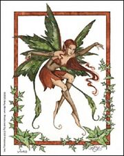 Amy Brown Sticker Decal Fairy Faery Vines ivy green growing garden nature earth