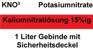 1 Liter* Kaliumnitrat E252 KNO3 Lösung 15%ig