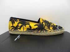 Saint Laurent YSL Mens Yellow Palm Espadrilles Flats Shoes 417805 43.5