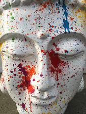 BUDDHA, KOPF DESIG 71 cm GROß BÜSTE,STATUE DEKOFIGUR, DEKO Feng Shui TOP, GARTEN