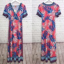 Flying Tomato Pink Floral Print Surplice Faux Wrap Maxi Dress Size XS