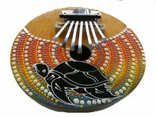 Coconut Kalimba Mbira Congo Zimbabwe African Thumb Piano Turtle Painted Design