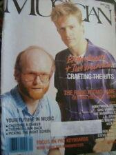 Canadian Musician Magazine Bryan Adams & Jim Vallance April 1986