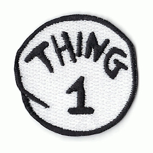 Thing 1 DIY Iron On Embroidered Applique Patch