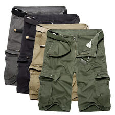 Mens Summer Casual Cargo Pants Shorts Trousers Cotton Military Camo Combat Army