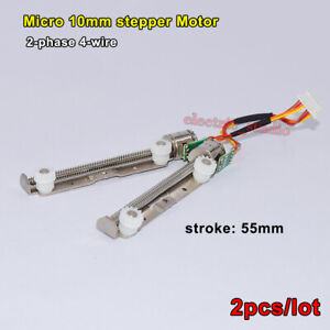 Micro Mini 10mm 2-Phase 4-Wire Stepper Motor Linear Actuator Long Screw Shaft