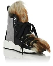 NO KA' OI KANE FAUX FUR LACE-UP SNEAKER BOOTS Sz. 39EU / 8.5US