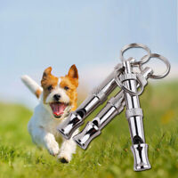 Chiot Pet Dog Whistle Flûte à ultrasons bicolore Arrêtez Barking Sound RepeOP2