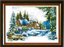 """NEW Cross Stitch Kits""""Winter snow"""""""