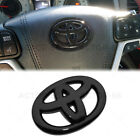 Gloss Black Steering Wheel Logo Badge Cover Overlay Emblem For Toyota Decorate