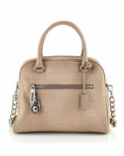NEW MICHAEL KORS JOAN DUSK KNOX CROCODILE LARGE LEATHER SATCHEL BAG $328