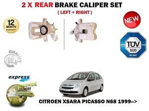 FOR CITROEN XSARA PICASSO N68 1999--> NEW 2X REAR LEFT + RIGHT BRAKE CALIPER SET