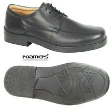 Roamers Black Leather Extra Wide EEE Fit Lace-up Mens Shoes Size 6 -14 UK