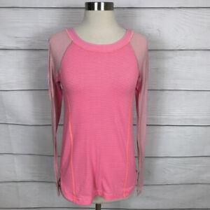Lululemon Run: Turn It Up Long Sleeve Top Pink Size 4 Athletic Lightweight