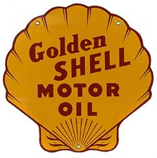 SHELL GASOLINE HEAVY METAL SIGN