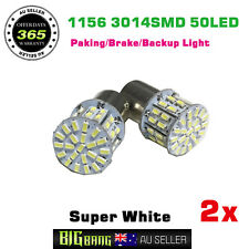 2x BA15S 1156 Car Brake Turn Park Backup Reverse Signal Bulbs 12V Bright White