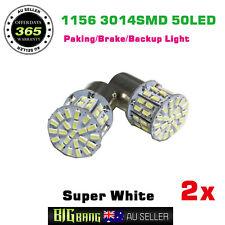 2x BA15S 1156 Bright White 50LED Rear Indicator Light Backup Reverse Bulbs 12V